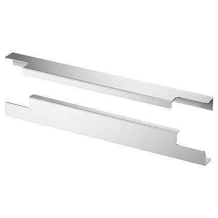 Poignee De Cuisine Ikea.Ikea Blankett Poignee Aluminium Pack 2 295 Mm Amazon