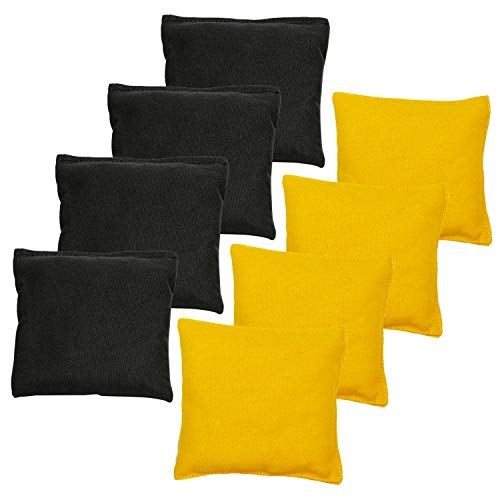black and yellow corn hole bags - 1
