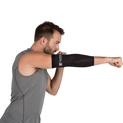 Copper Recovery Sleeve - Highest Copper Content Elbow Support. For And Tennis Elbow, Tendonitis. Copper Fit - Wear