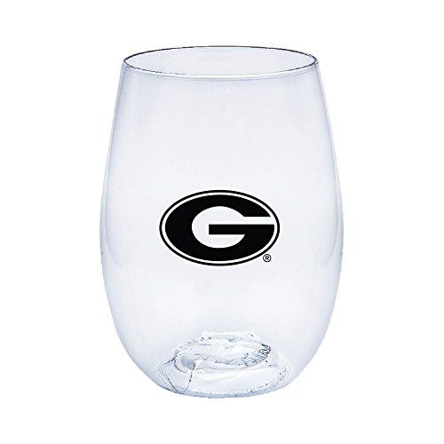 同情淡い負荷Georgia Bulldogs Govino Shatterproofワインメガネ – ボックスセットof 4