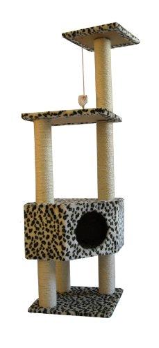 52″ Leopard Skin Cat Tree Condo Scratcher, My Pet Supplies