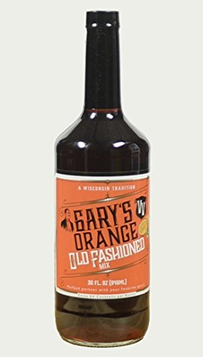 Fashion Beverage - Gary's Old Fashioned Mix (32 FLOZ) 64 Cocktails per Bottle, Premium Non-alcoholic Mixer, Wisconsin Tradition, Old Fashioned Drink Mix