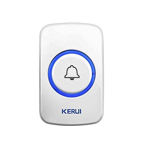 KERUI Wireless Panic Button Door Bell for Home Alarm System Security Emergency Calling& Doorbell System 433MHz