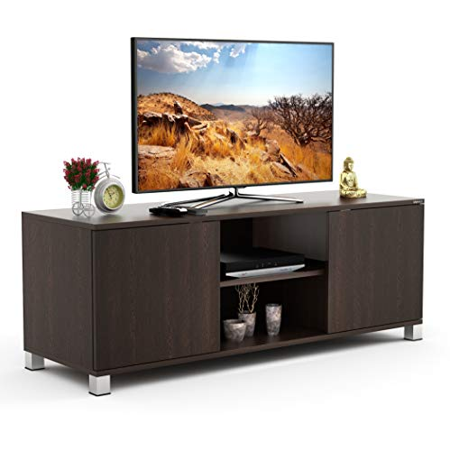 BLUEWUD Harmond Engineered Wood TV Entertainment Unit Table/Set Top Box Stand  Wenge