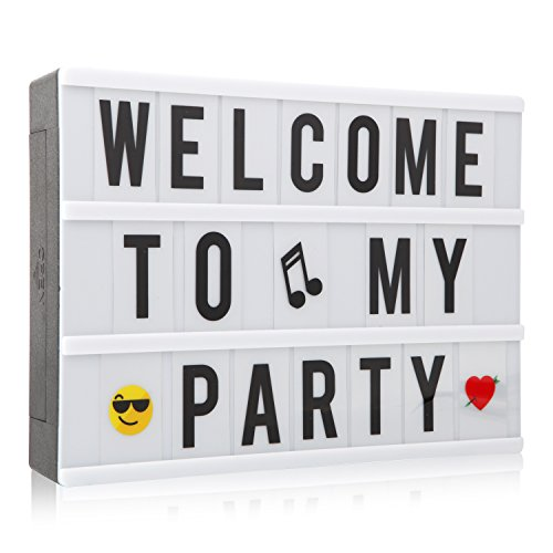 A4 LED Light up Box Sign Cinematic Message Lett...