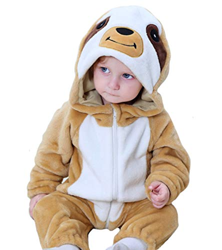 Tonwhar Baby Onesie Costume Animal Romper (70 Ages 3-6 Months, Tree Sloths) ()
