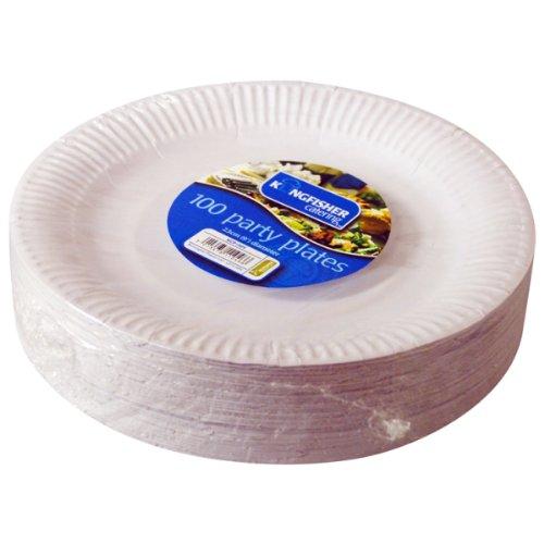 Martn-pescador-KCP1009-papel-desechable-blanco-placas-9-paquete-de-100
