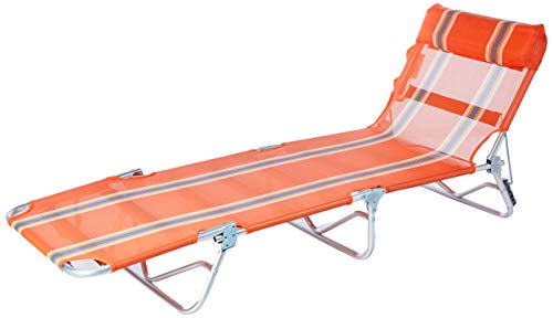 Cadeira Espreguiçadeira Textilene Aluminio Listrada Branco/azul 4162 Bel Fix Listrado