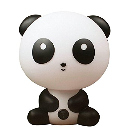 Portable Baby Kid Sleeping Bedroom LED Glow Nursery Night Light Cute Panda Desk Table Lamp Travel Essential (Panda) (Panda Bear Lamp)