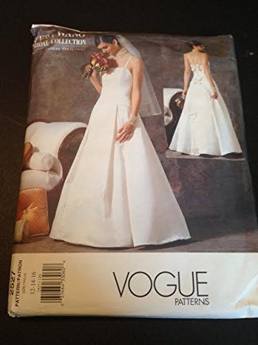 Amazon.com: Vogue 2527 Sewing Pattern, Misses\' Wedding Dress, Size ...