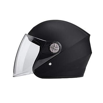 Generp - Casco de Moto Unisex con Cubierta Media para Cuatro Estaciones, Universal, Resistente