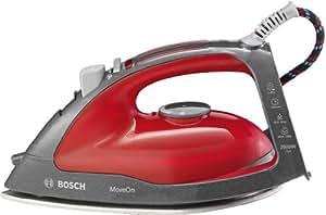 Bosch TDA46Move6 MoveOn Secure - Plancha de vapor (2500 W, base deslizante, apagado automático), color rojo
