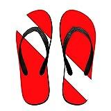 Unisex Summer Scuba Dive Flag Flip Flop Shower Sandal