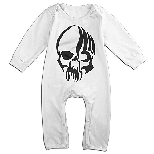 Hatted Cat Cool Tribal Skull Tattoo Design Cute Unisex Long Sleeve Baby Clothes One-Piece Garment For (Cool Tribal Tattoos)