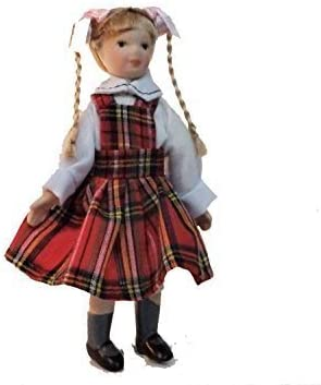 Dolls House Miniature 1:12 Scale Porcelain Victorian Maid Servant in Uniform