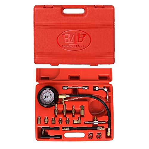 B4B BANG 4 BUCK 12 Pieces 0-500psi Automatic Transmission Engine Oil Pressure Tester Gauge TU-11A Diagnostic Test Kit (20 Pieces 0-140 PSI Fuel Injection Pressure Test)