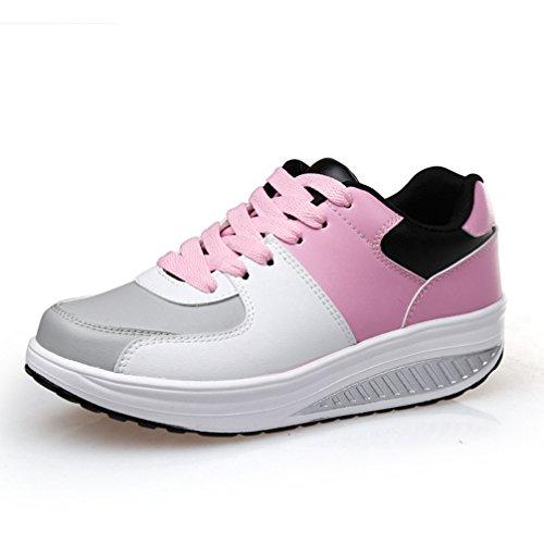 JITIAN - Zapatillas de Deportes de Exterior de Material Sintético Mujer Rose