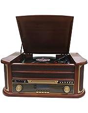 Denver MRD-51 DAB+, FM/AM radio met cd-, cassette- en platenspeler, houtlook