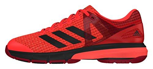 adidas Court Stabil 13, Zapatillas de Balonmano para Hombre Rojo (Rojsol / Negbas / Rojpot)