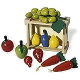 Pinolino - 221404 - Cagette avec des legumes et des fruits en bois