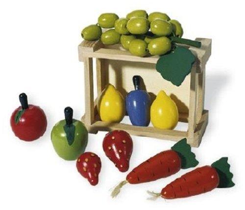 f249255f pinolino 221404 cagette avec des legumes et des fruits en bois ebay. Black Bedroom Furniture Sets. Home Design Ideas
