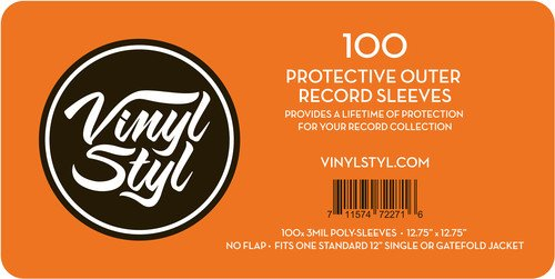 Vinyl Styl Protective Outer Record Sleeves - 100 Pack