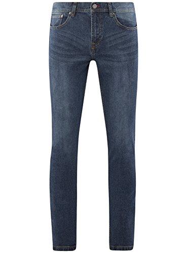 Jeans Uomo Oodji 7800w Ultra Fit Blu Basic Slim 7HwgP