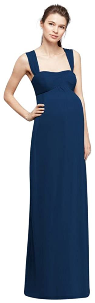 28663ff11c747 Empire Waist Maternity Bridesmaid Dress with Straps Style F19278 at Amazon  Women's Clothing store: