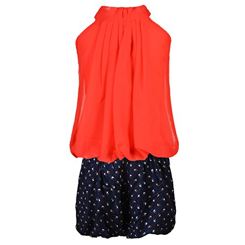 41oUbd6d6jL. SS500  - Aarika Girl's Chiffon Party Wear Top and Short Set