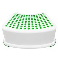Kids Green Step Stool: ideal para entrenamiento, baño, dormitorio, sala de juguetes, cocina y sala de estar. Perfecto para tu casa