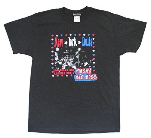 New York Dolls Great Big Kiss Sourpuss Adult Black T Shirt ()