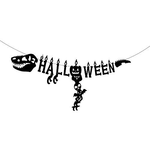 GOER Dinosaur Halloween Banner,65-Inch Jurassic Theme Halloween Party Supplies -