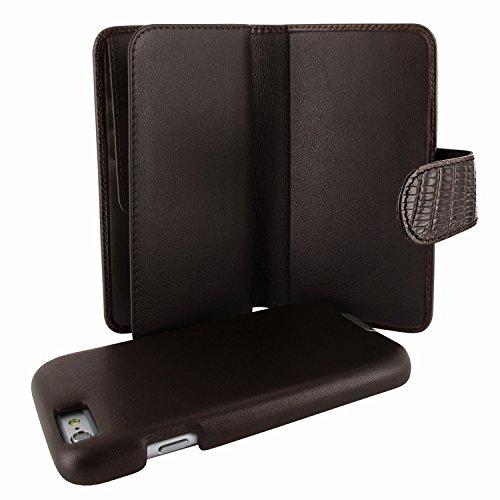 (Piel Frama 717 Brown Lizard WalletMagnum Leather Case for Apple iPhone 6 Plus / 6S Plus)