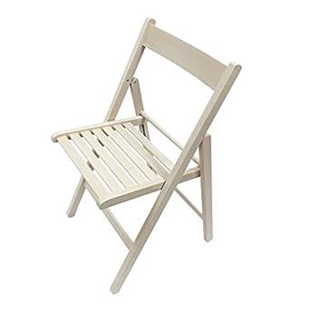 Tued - Silla plegable de madera (Blanco)