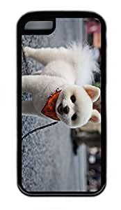 iPhone 5C Case, Personalized Protective Rubber Soft TPU Black Edge Case for iphone 5C - Dog Cover