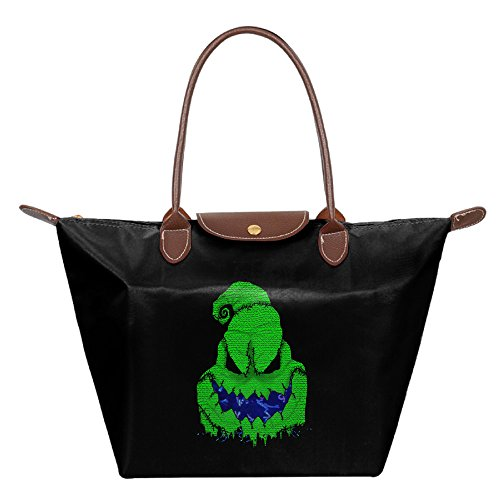 [The Boogie Man Women Fashion Waterproof Hobo Bag Large Tote Shoulder Handbag] (Boogie Man Nightmare Before Christmas Costumes)
