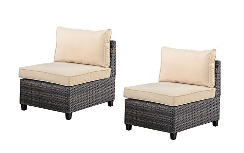 Tampa 2 piece outdoor rattan wicker sofa sectional set Comfortable sunroom furniture