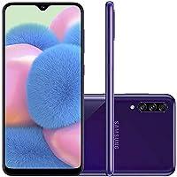"Smartphone Samsung Galaxy A30s 64GB Dual Chip Android 9.0 Tela 6.4"" Octa-Core 4G Câmera Tripla 25MP + 5MP + 8MP - Violeta"