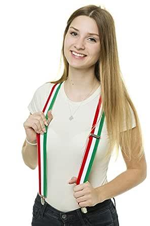 Francia e Italia con 4 pinzas s/ólidas de 35 mm Tirantes de los colores de la bandera de Alemania