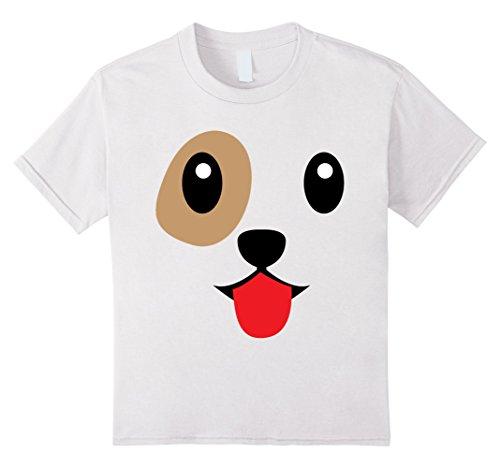 Kids Dog Face Cute Smile Laugh Emoji Halloween Group Costume 4 White