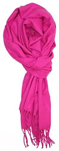 Ted and Jack - A Classic Staple Solid Cashmere Feel Scarf (Hot (Hot Pink Scarf)