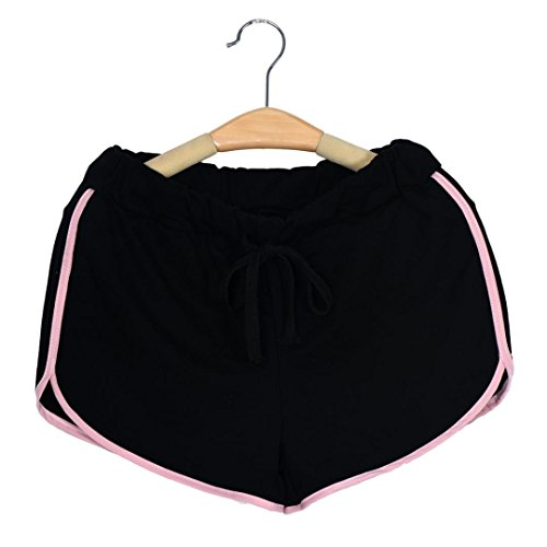 Broadcloth Womens Shorts (Sunward Women's Fashion New Summer Pants Women Sports Shorts Gym Workout Yoga Short (M, Pink))