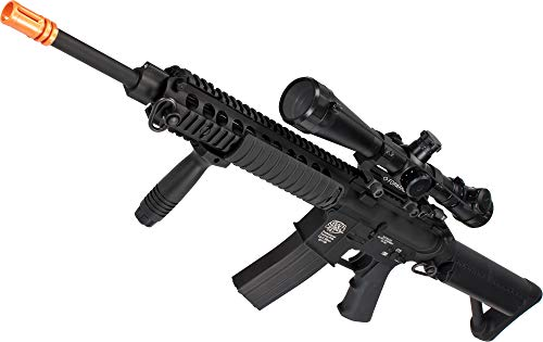 Evike G&P Navy Seal Custom Airsoft AEG Rifle w/ M1 Sniper Scope (Package: Add Battery + Charger)