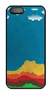 iPhone 5 5S Case Landscapes Paint PC Custom iPhone 5 5S Case Cover Black