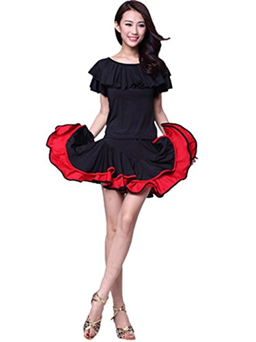 Womens Dancewear Ballroom Lotus-neck Dress Latin Dance Dress Prom Dress Colthes