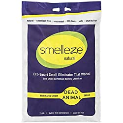 SMELLEZE Natural Dead Animal Odor Removal Granules: 25 lb. Bag Sprinkle in Yard
