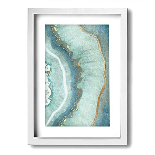 - SRuhqu Canvas Wall Art Prints Turquoise Agate -Picture Paintings Modern Home Decoration Giclee Artwork-Wood Frame Ready to Hang