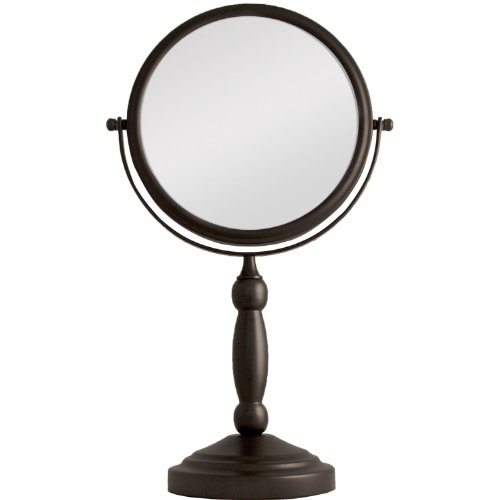 Zadro 10x Mag 2-Sided Swivel Vanity Mirror, 8-Inch, Oil-Rubbed Bronze -