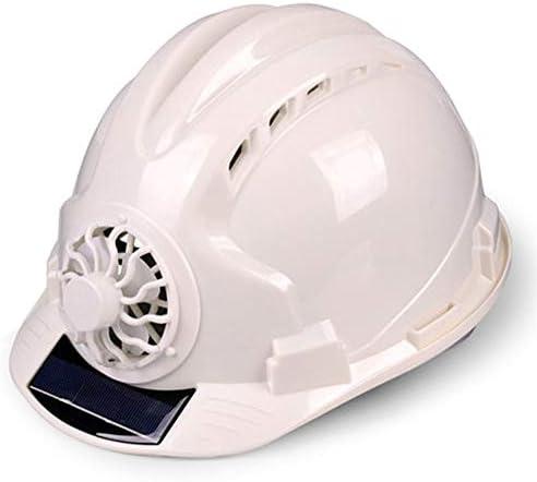 Yan Xiao Yu 夏の太陽熱ファンのヘルメットの場所の一流の構造の人工物の日焼け止めのバイザーの帽子通気性 (Color : White, Size : One size)