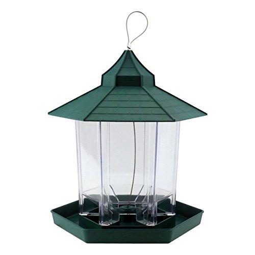 Hanging Bird Feeder Gazebo (PetsN'all Gazebo Bird Feeder Transparent, Hanging Bird Feeder in Hexagon Shape, Handles Up To 2.25 Lbs)